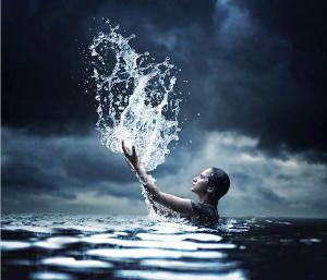 jugando con agua